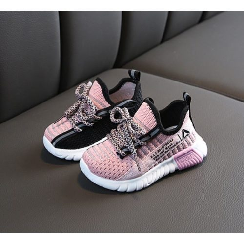 JSK1915-pink Sepatu Sneaker Sport Anak Import Terbaru
