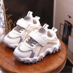 JSK2001-beige Sepatu Sneaker Anak Keren Import Terbaru