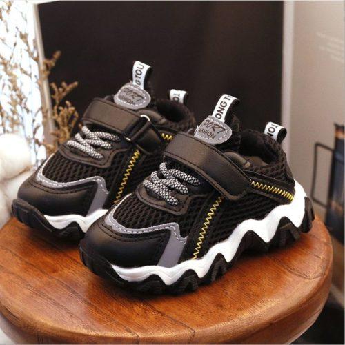 JSK2001-black Sepatu Sneaker Anak Keren Import Terbaru