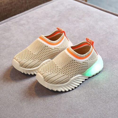 JSK2002-beige Sepatu Sneakers Anak Comfy Import Terbaru