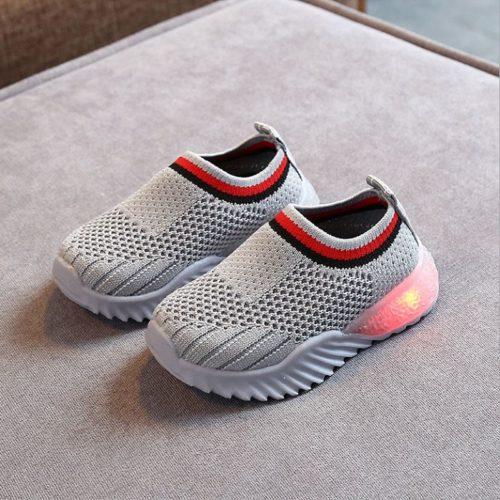 JSK2002-gray Sepatu Sneakers Anak Comfy Import Terbaru