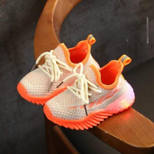 JSK2011-beige Sepatu Sneakers Anak Modis Import Terbaru