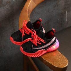 JSK2011-blackred Sepatu Sneakers Anak Modis Import Terbaru