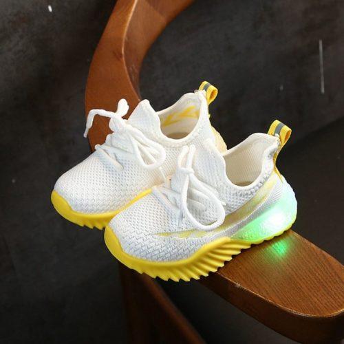 JSK2011-whiteyellow Sepatu Sneakers Anak Modis Import Terbaru