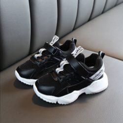 JSK2029-black Sepatu Anak Sport Imut Import Terbaru