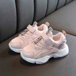 JSK2029-pink Sepatu Anak Sport Imut Import Terbaru