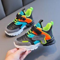 JSK218-black Sepatu Sneakers Anak Imut Keren Import