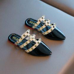 JSK233-black Sandal Import Anak Wanita Cantik Import