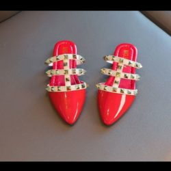 JSK233-red Sandal Import Anak Wanita Cantik Import
