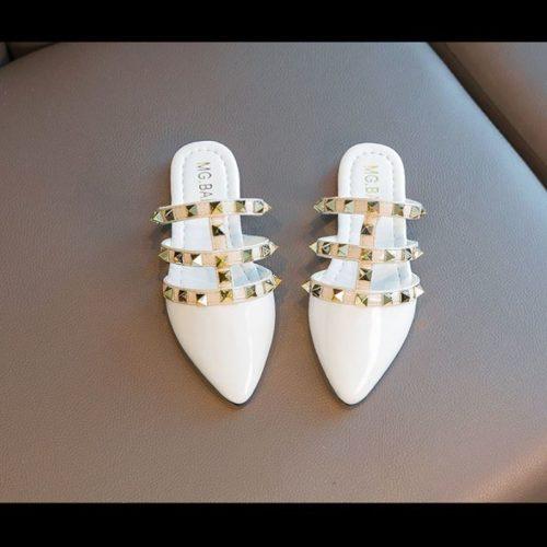 JSK233-white Sandal Import Anak Wanita Cantik Import