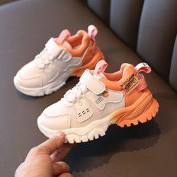 JSK290-orange Sepatu Sneakers Anak Fashion Import Terbaru