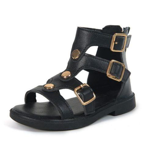 JSK2907-black Sandal Gunung Anak Keren Import