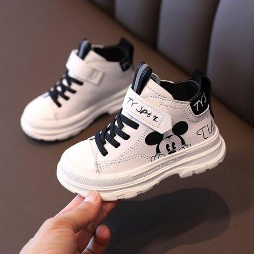 JSK293-black Sepatu Sneakers Anak Mickey Import Terbaru