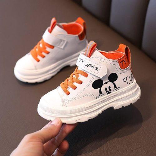 JSK293-orange Sepatu Sneakers Anak Mickey Import Terbaru