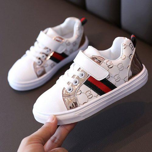 JSK328-gold Sepatu Sneakers Import Anak Imut Terbaru