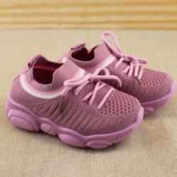 JSK356-pink Sepatu Sneakers Fashion Anak Keren Import