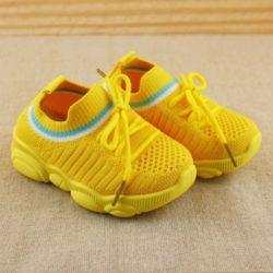 JSK356-yellow Sepatu Sneakers Fashion Anak Keren Import