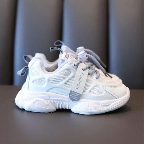 JSK392-gray Sepatu Sneakers Anak Imut Glow in the dark