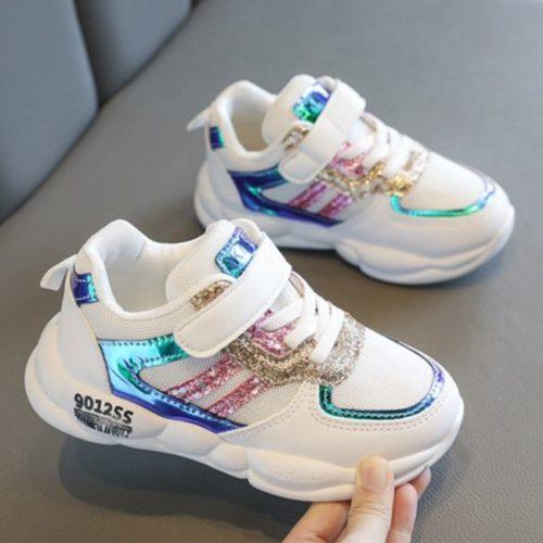 JSK519-white Sepatu Sneakers Anak Cowok Cantik Import