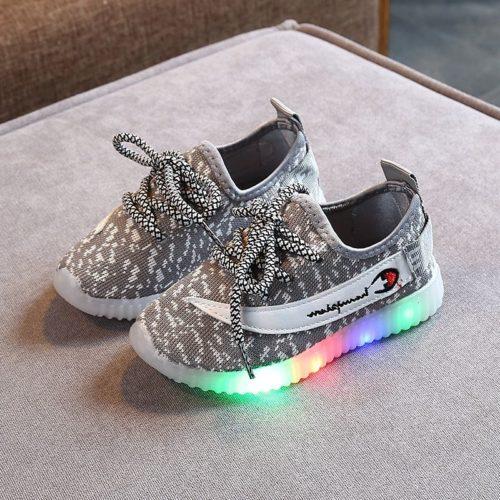 JSK603-gray Sepatu Sneakers Tali Anak Keren Import Terbaru