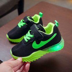 JSK622-green Sepatu Sneakers Anak Import Keren Terbaru