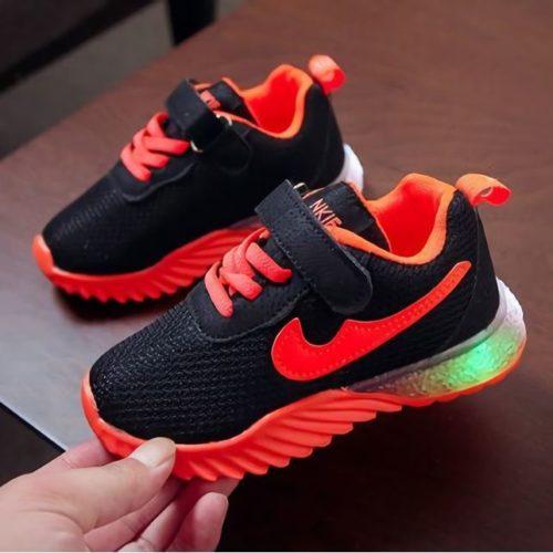 JSK622-orange Sepatu Sneakers Anak Import Keren Terbaru