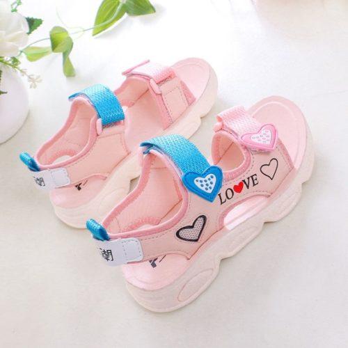 JSK806-pink Sandal Gunung Anak Cewek Cantik Import
