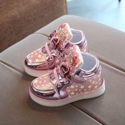 JSK888-pink Sepatu Sneakers Anak Cantik Import