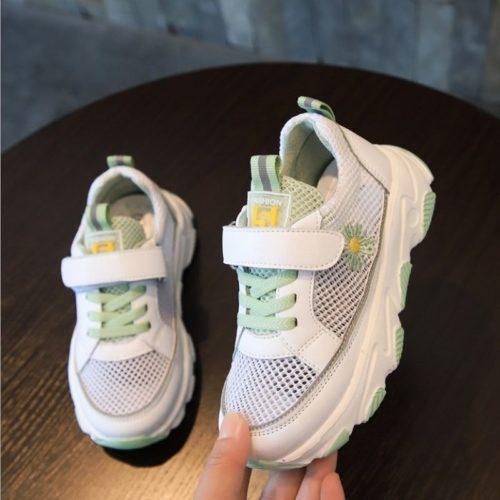 JSK909-green Sepatu Sneakers Anak Unisex Keren Import