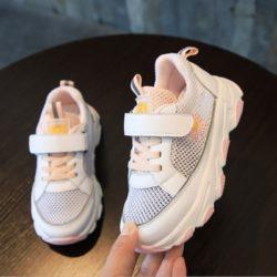 JSK909-pink Sepatu Sneakers Anak Unisex Keren Import