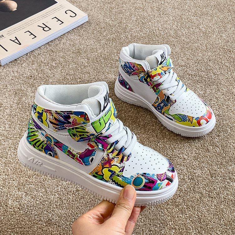 JSK9909-blue Sepatu Sneakers Anak Keren Import Terbaru