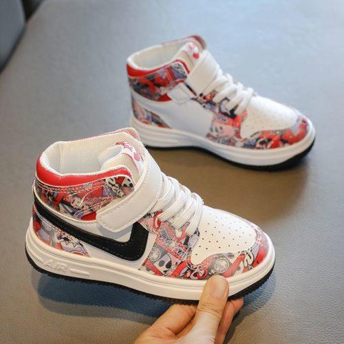 JSK9911-red Sepatu Sneakers Anak Keren Import Terbaru