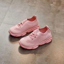 JSKA01-pink Sepatu Sneakers Anak Wanita Cantik