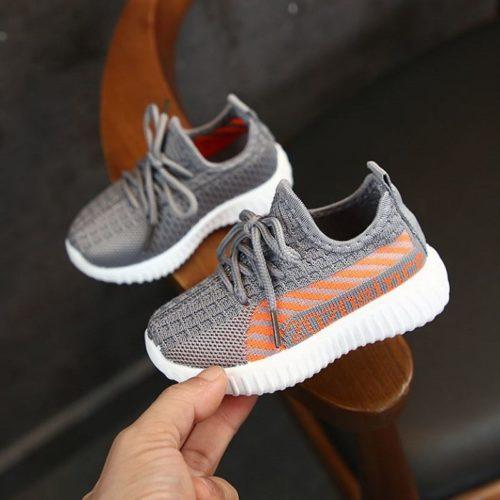 JSKA055-gray Sepatu Sneakers Olah Raga Anak Import