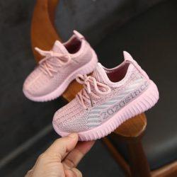 JSKA055-pink Sepatu Sneakers Olah Raga Anak Import