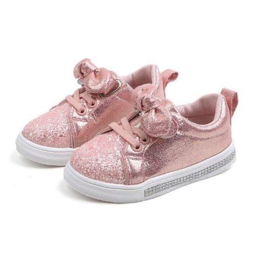 JSKA18-pink Sepatu Anak Cantik Imut Kekinian