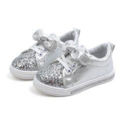JSKA18-silver Sepatu Anak Cantik Imut Kekinian