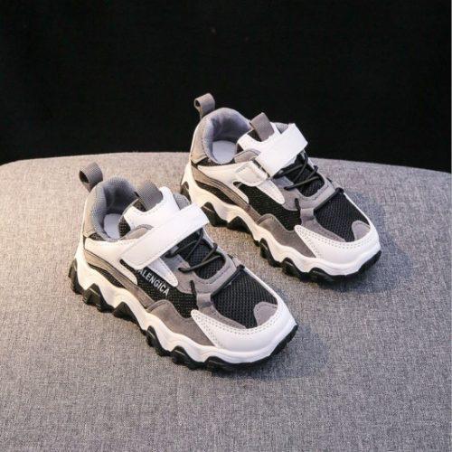 JSKA51-black Sepatu Sneakers Fashion Modis Anak Keren Import