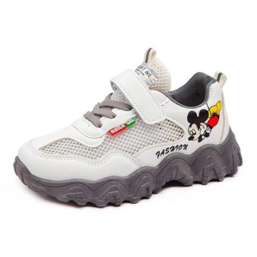 JSKA56-gray Sepatu Sneakers Keren Anak Imut Import