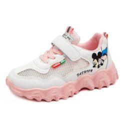 JSKA56-pink Sepatu Sneakers Keren Anak Imut Import