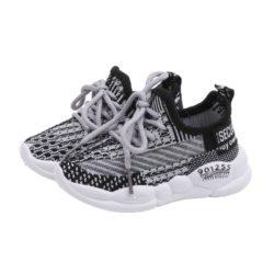 JSKB11-black Sepatu Sneakers Anak Cowok Keren Import