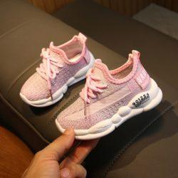 JSKB11-pink Sepatu Sneakers Anak Cewek Keren Import