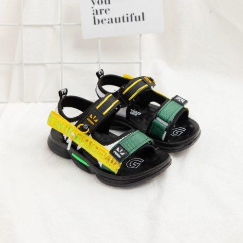 JSKB16-green Sandal Gunung Anak Keren Import Terbaru