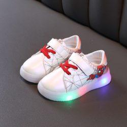 JSKB21-red Sepatu Sneakers Spiderman Anak Import