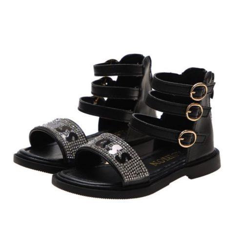 JSKD1-black Sandal Gunung Anak Cowok Keren Import
