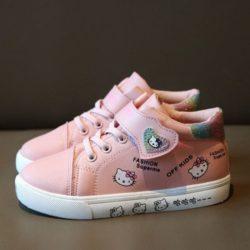 JSKD5-pink Sepatu Sneakers Hello Kitty Import Terbaru