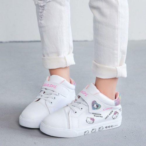 JSKD5-white Sepatu Sneakers Hello Kitty Import Terbaru
