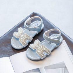 JSKH05-blue Sandal Pesta Anak Import Cantik Terbaru