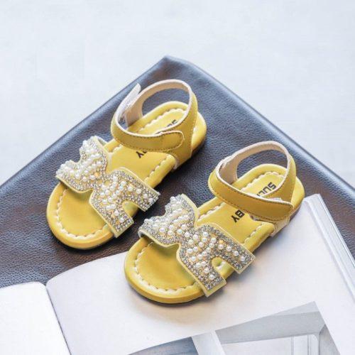 JSKH05-yellow Sandal Pesta Anak Import Cantik Terbaru