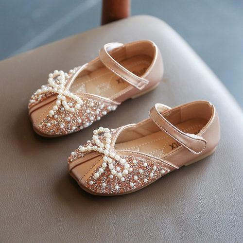 JSKK01-gold Sepatu Sandal Pesta Anak Cewek Cantik Terbaru